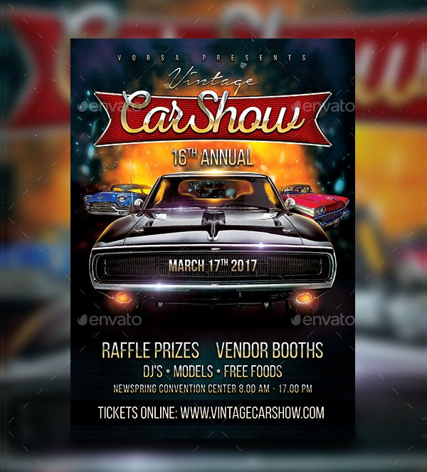 Free Car Show Flyer Template New 19 Car Show Flyer Free & Premium Psd Ai Vector Eps