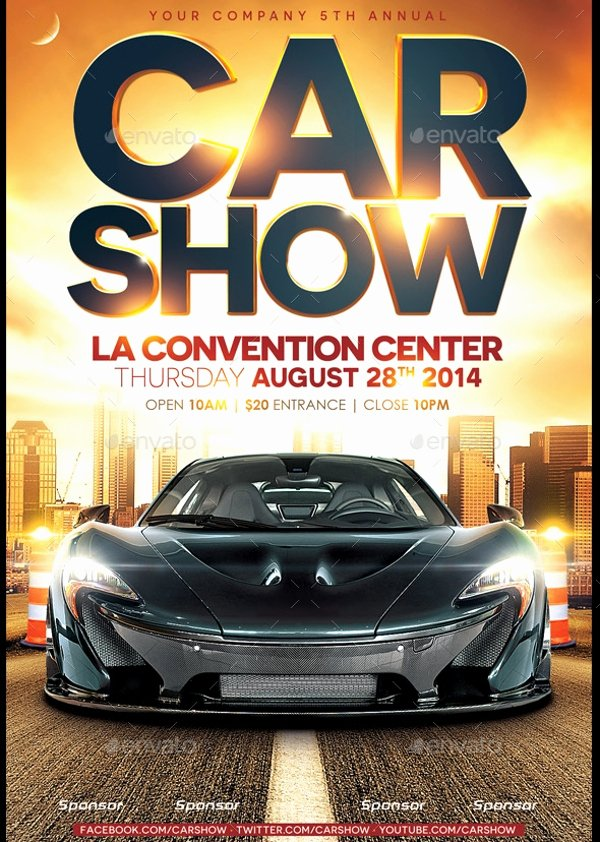 Free Car Show Flyer Template Unique 26 Modern Car Show Flyer Designs & Creatives Ai Docs Psd