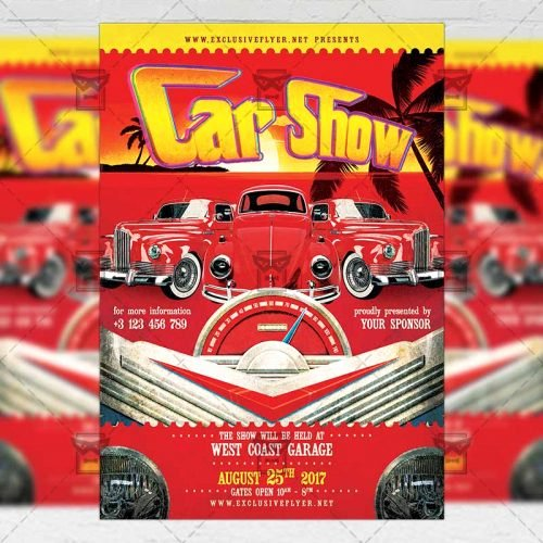 Free Car Show Flyer Template Unique Car Show – Premium A5 Flyer Template