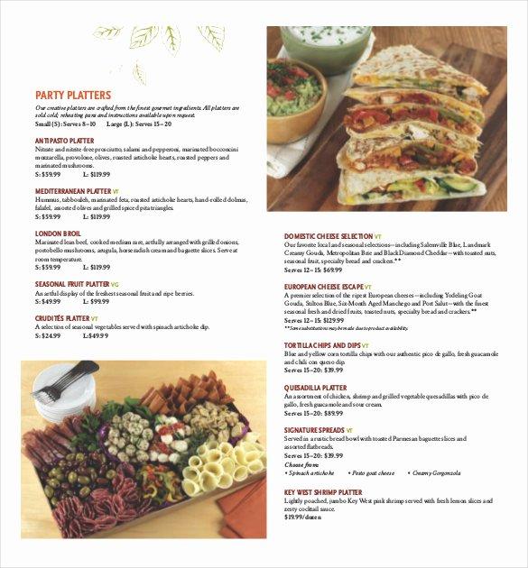 Free Catering Menu Templates Awesome 23 Catering Menu Templates Ai Psd Google Docs Apple