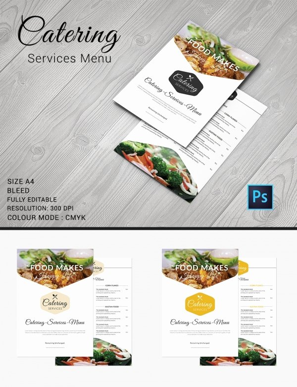 Free Catering Menu Templates Awesome Catering Menu Template – 30 Free Psd Eps Documents