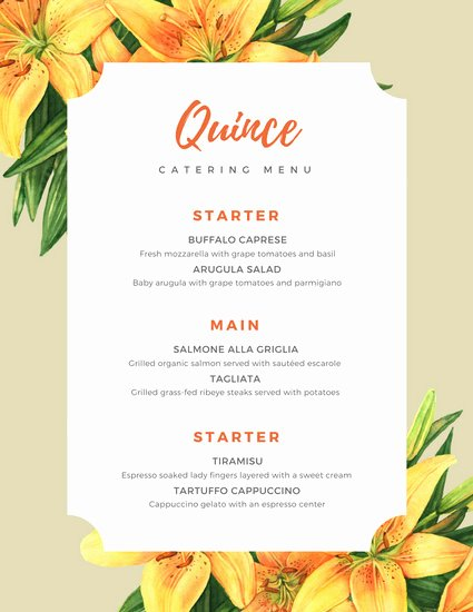 Free Catering Menu Templates Awesome Customize 53 Catering Menu Templates Online Canva