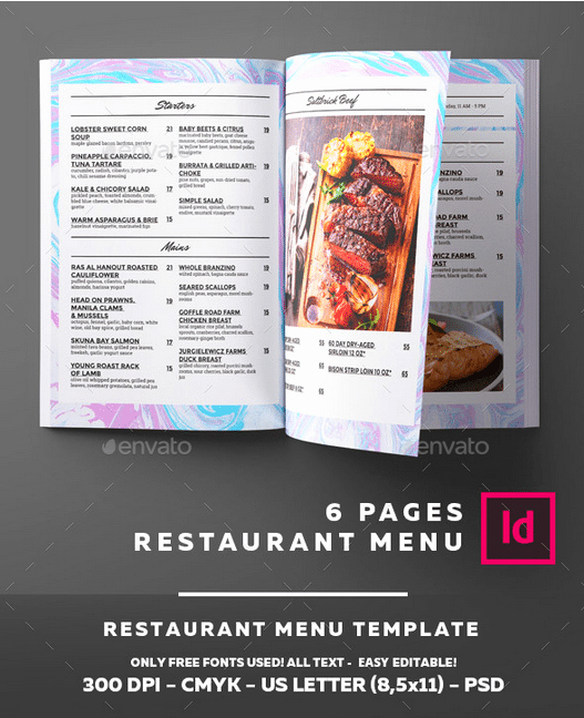 Free Catering Menu Templates Awesome top 25 Free & Paid Restaurant Menu Templates