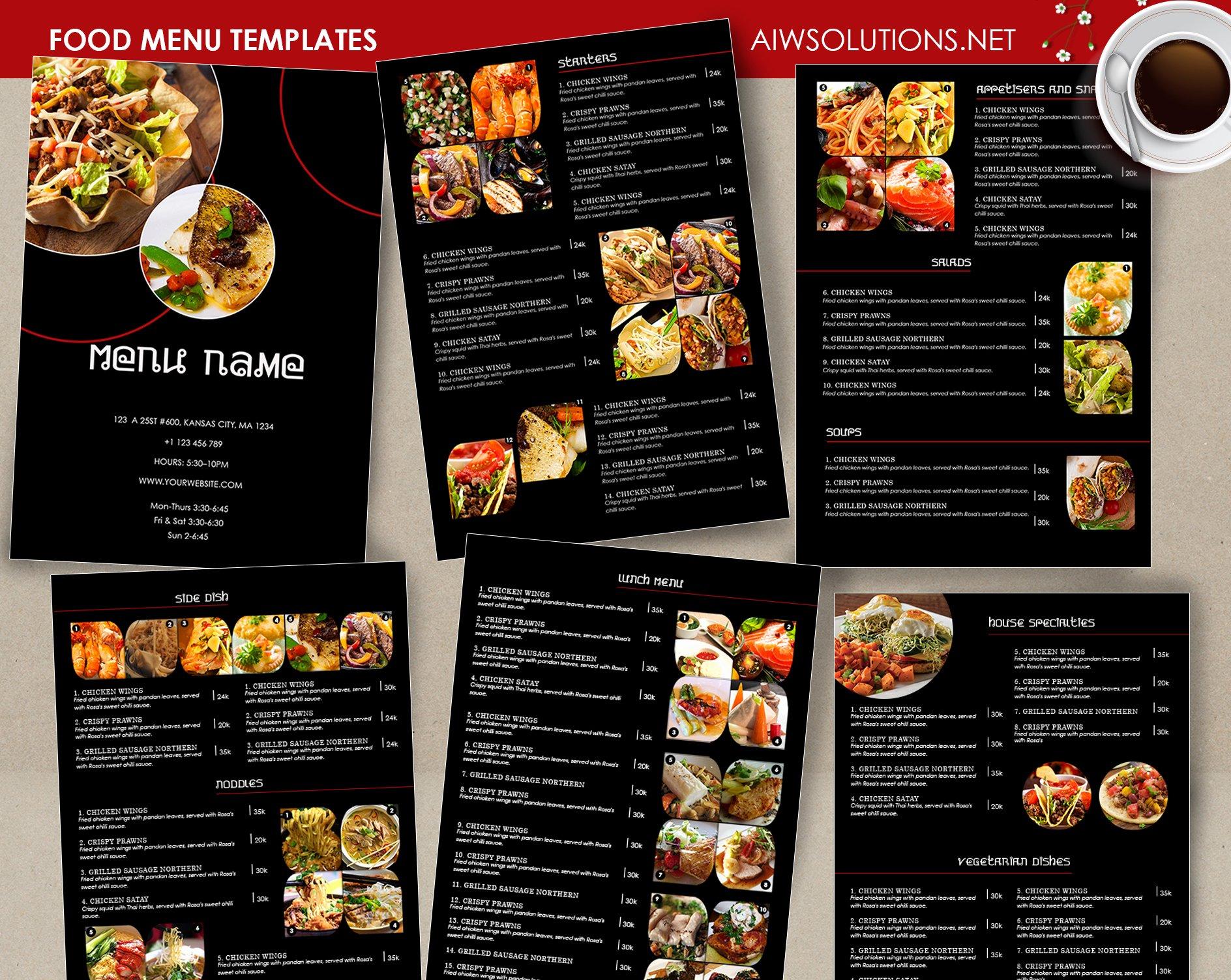 Free Catering Menu Templates Beautiful Food Menu Restaurant Menu – Aiwsolutions
