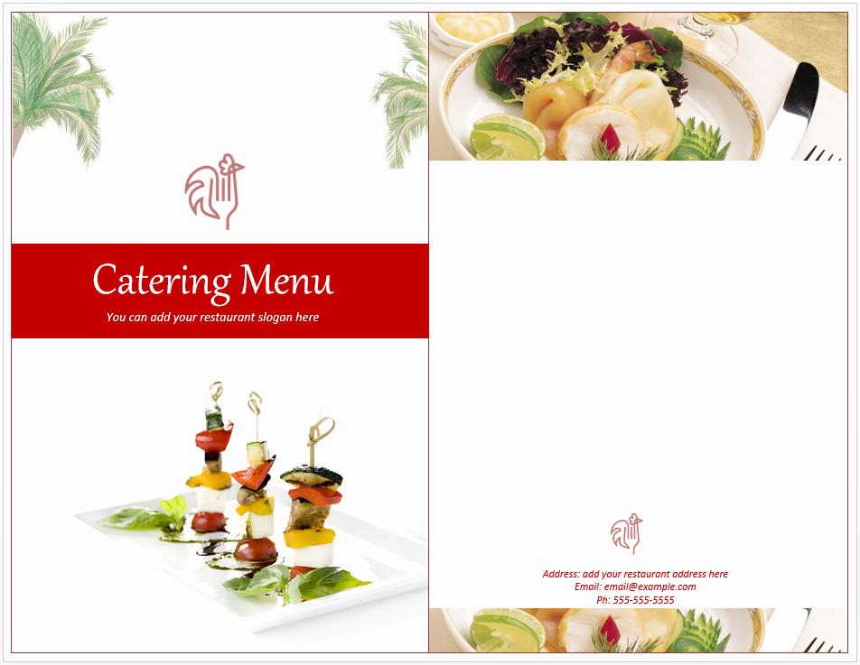 Free Catering Menu Templates Fresh Venue Catering Menu Template Free Template Downloads