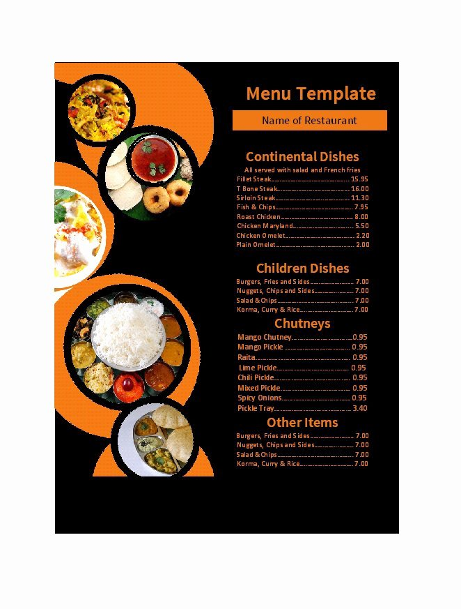 Free Catering Menu Templates Lovely 30 Restaurant Menu Templates & Designs Template Lab