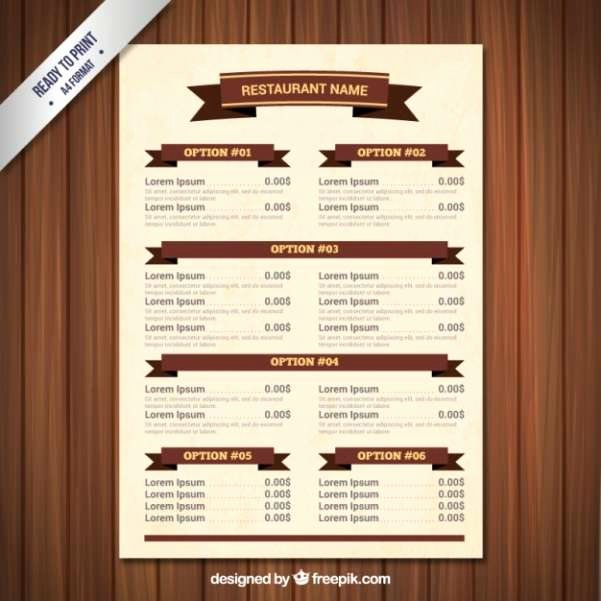 Free Catering Menu Templates New 50 Free Food & Restaurant Menu Templates Xdesigns