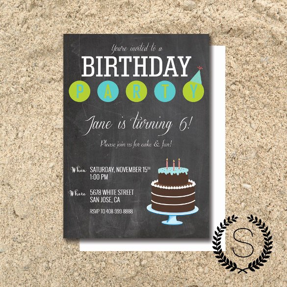 Free Chalkboard Invitation Templates Awesome Chalkboard Invitation Template 43 Free Jpg Psd