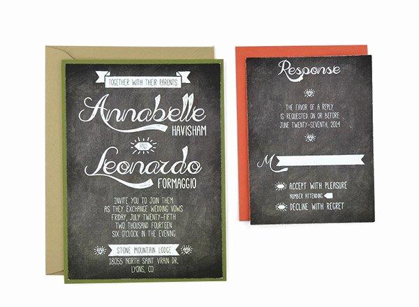 Free Chalkboard Invitation Templates Beautiful Chalkboard Free Wedding Invitation Template