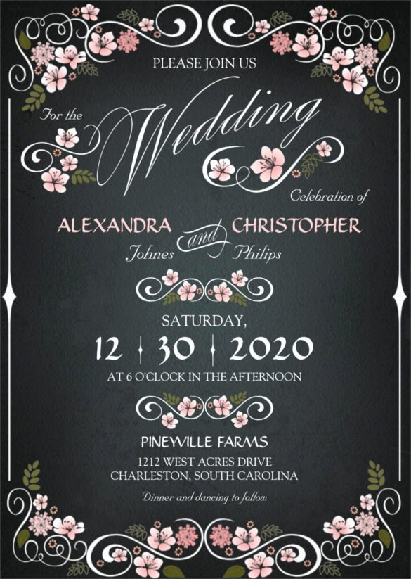 Free Chalkboard Invitation Templates Best Of 26 Chalkboard Wedding Invitation Templates – Free Sample