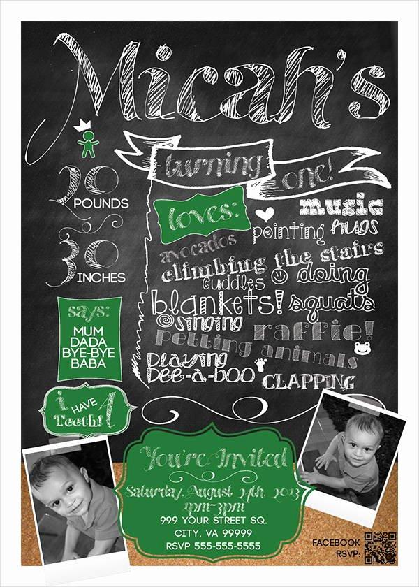 Free Chalkboard Invitation Templates Best Of 8 Chalkboard Birthday Invitation Designs & Templates Psd