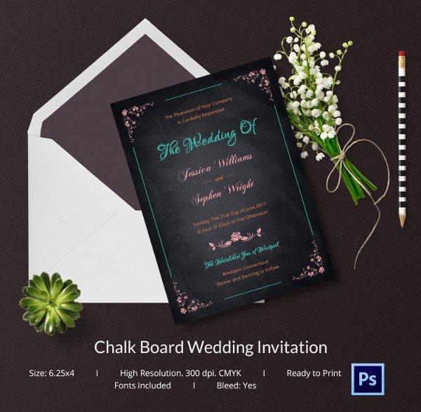 Free Chalkboard Invitation Templates Elegant Chalkboard Invitation Template 45 Free Jpg Psd
