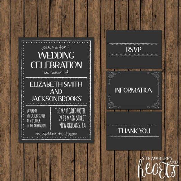 Free Chalkboard Invitation Templates Fresh 26 Chalkboard Wedding Invitation Templates – Free Sample