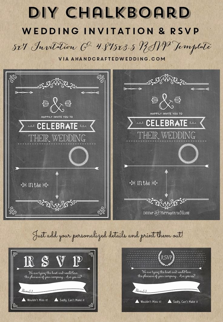 Free Chalkboard Invitation Templates Fresh Free Printable Wedding Invitation Template