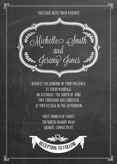 Free Chalkboard Invitation Templates Fresh Free Printable Wedding Invitations to Download