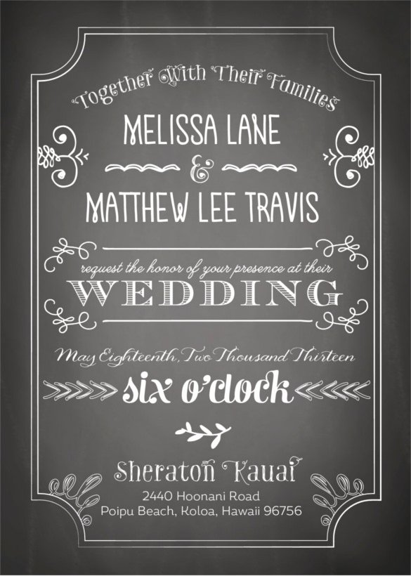 Free Chalkboard Invitation Templates Inspirational 26 Chalkboard Wedding Invitation Templates – Free Sample