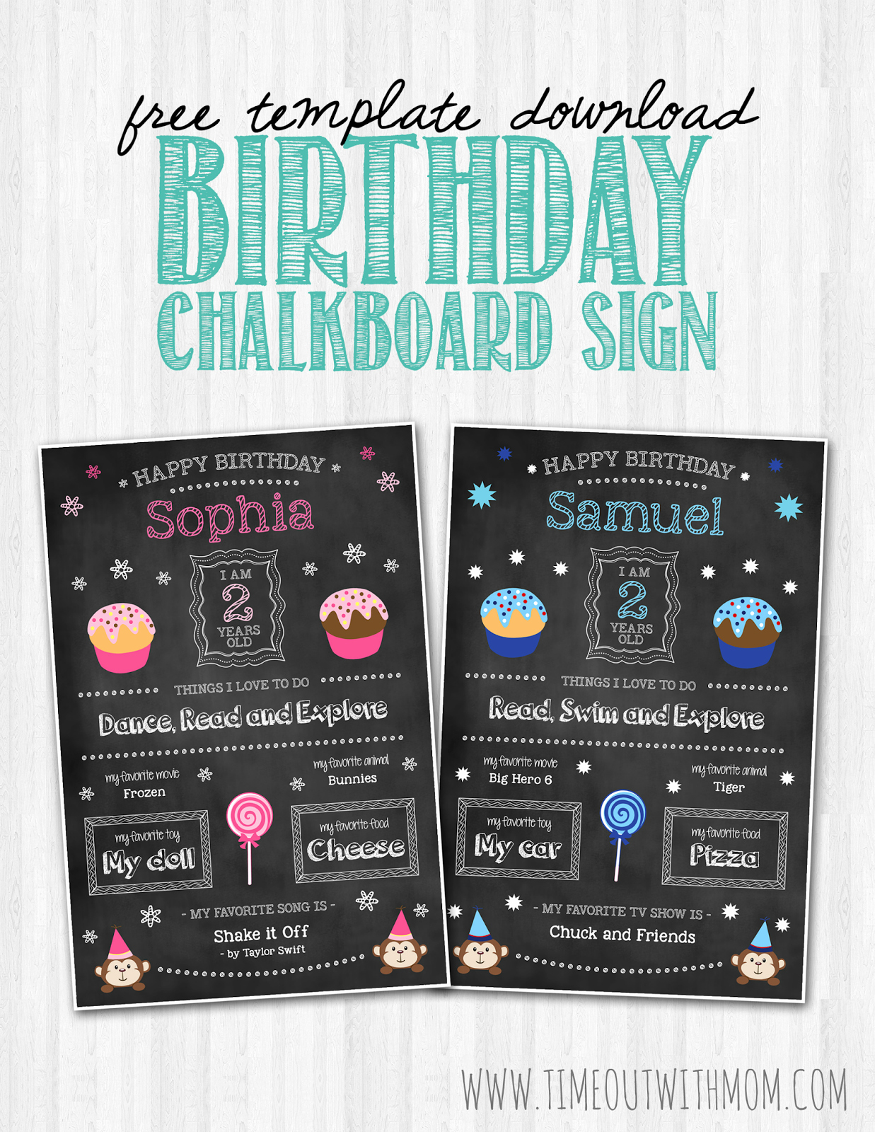 Free Chalkboard Invitation Templates Lovely Birthday Chalkboard Sign Template and Tutorial