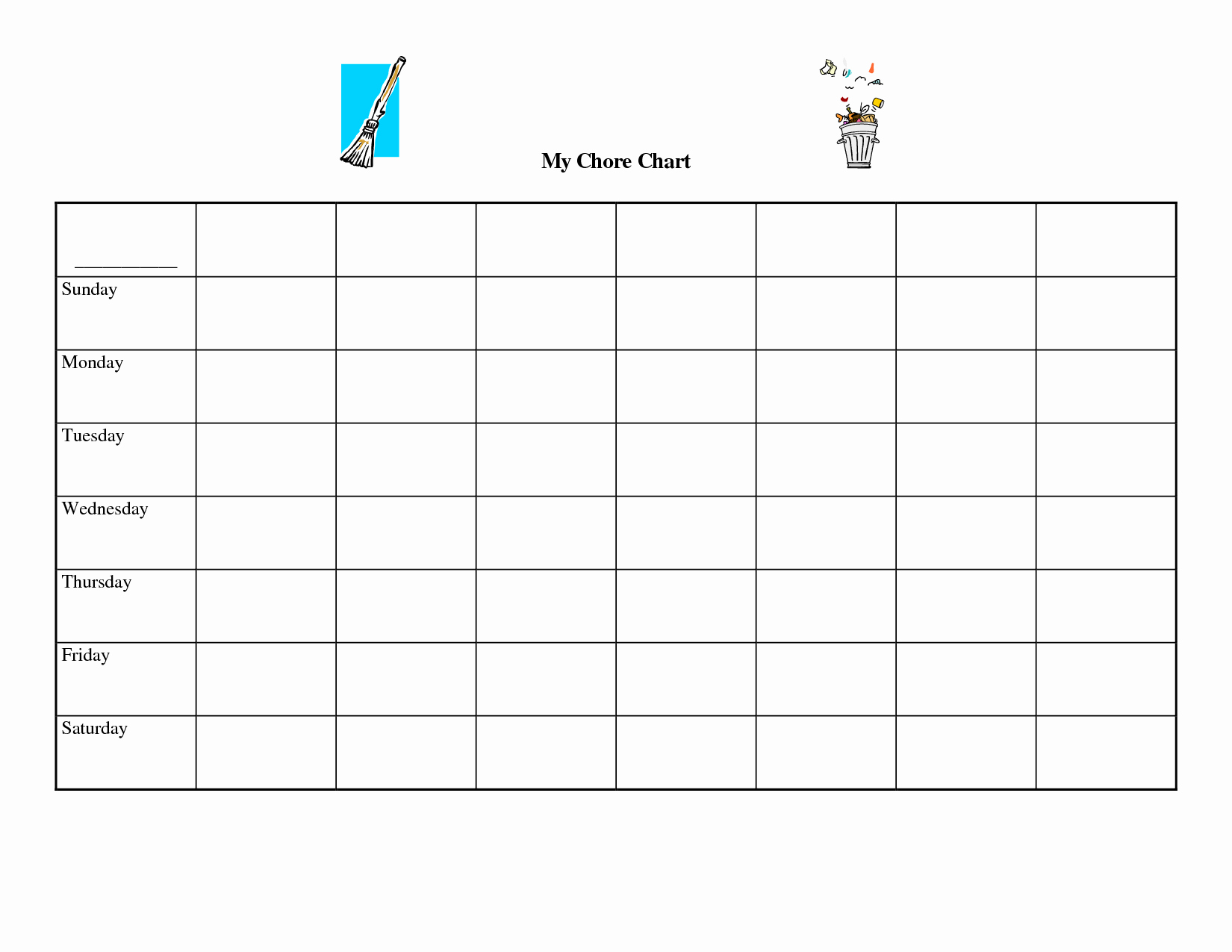 Free Chore Chart Template Awesome Chart Template Category Page 1 Efoza