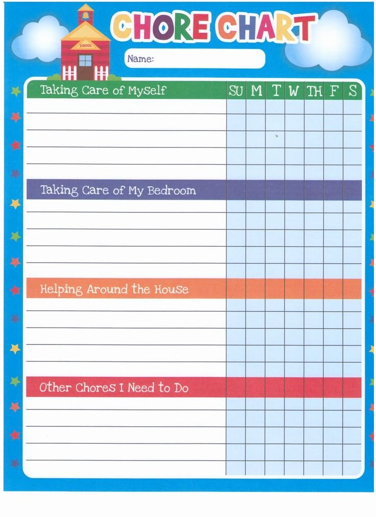 Free Chore Chart Template Best Of Chore Chart Template