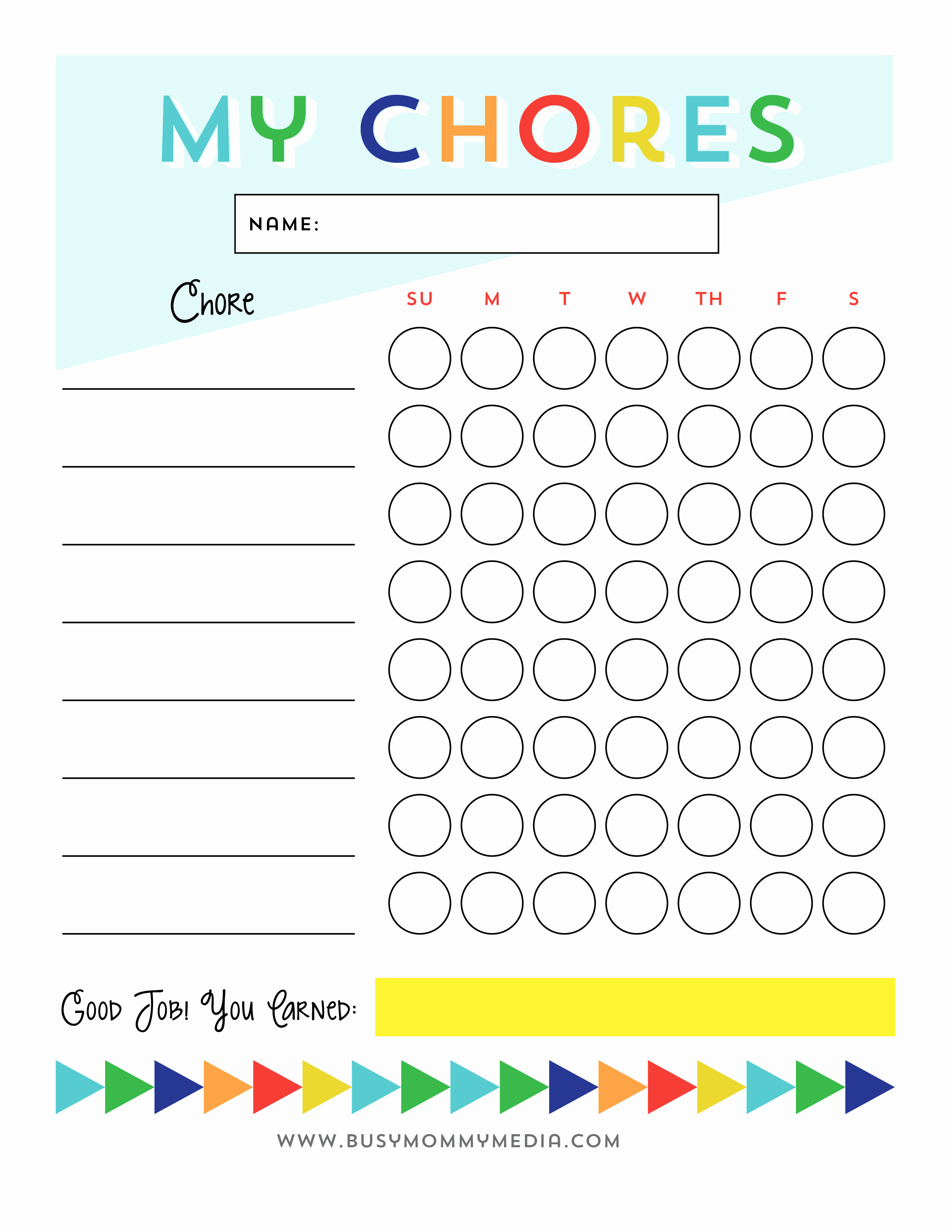 Free Chore Chart Template Best Of Free Printable Cleaning Checklist for Kids
