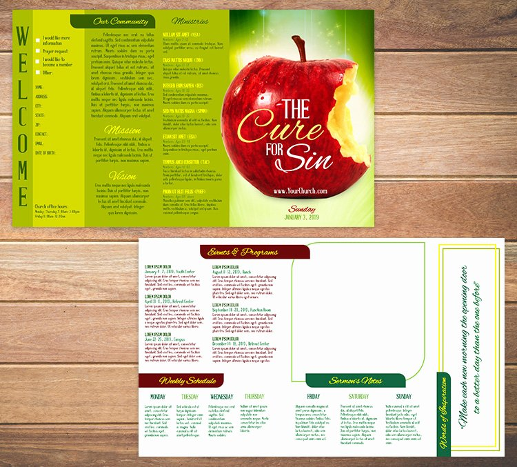 Free Church Bulletin Templates Beautiful Free Church Bulletin Templates 8 Professionally Designed