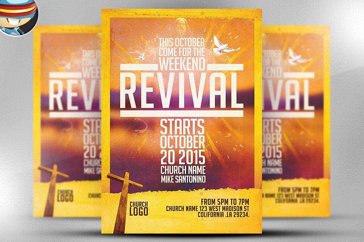 Free Church Flyer Templates Awesome Church Revival Flyer Template Flyer Templates Creative