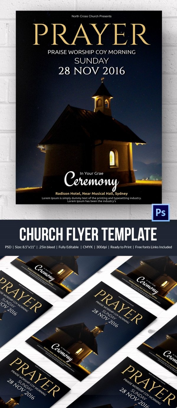 Free Church Flyer Templates Beautiful Church Flyers 46 Free Psd Ai Vector Eps format