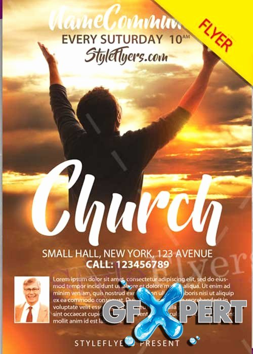 Free Church Flyer Templates Best Of Free Church Psd V12 Flyer Template