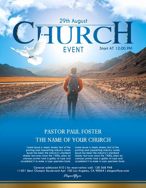 Free Church Flyer Templates Elegant Free Church event Free Flyer Psd Template Download