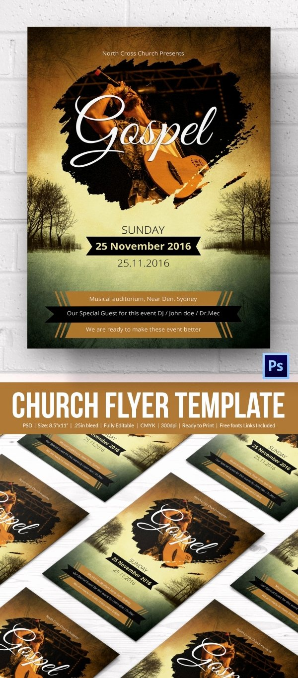 Free Church Flyer Templates Fresh Church Flyers 26 Free Psd Ai Vector Eps format
