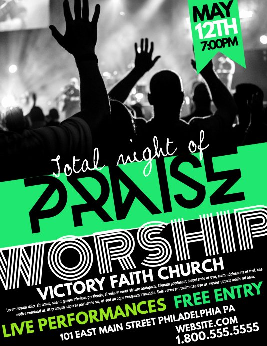 Free Church Flyer Templates Fresh Church Template