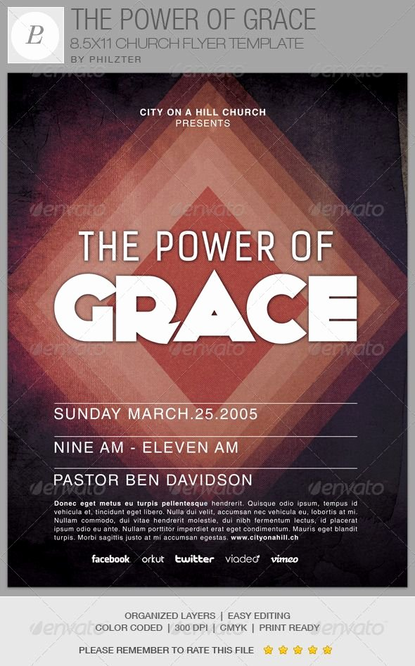 Free Church Flyer Templates Lovely the Power Of Grace Church Flyer Template is Great for Any
