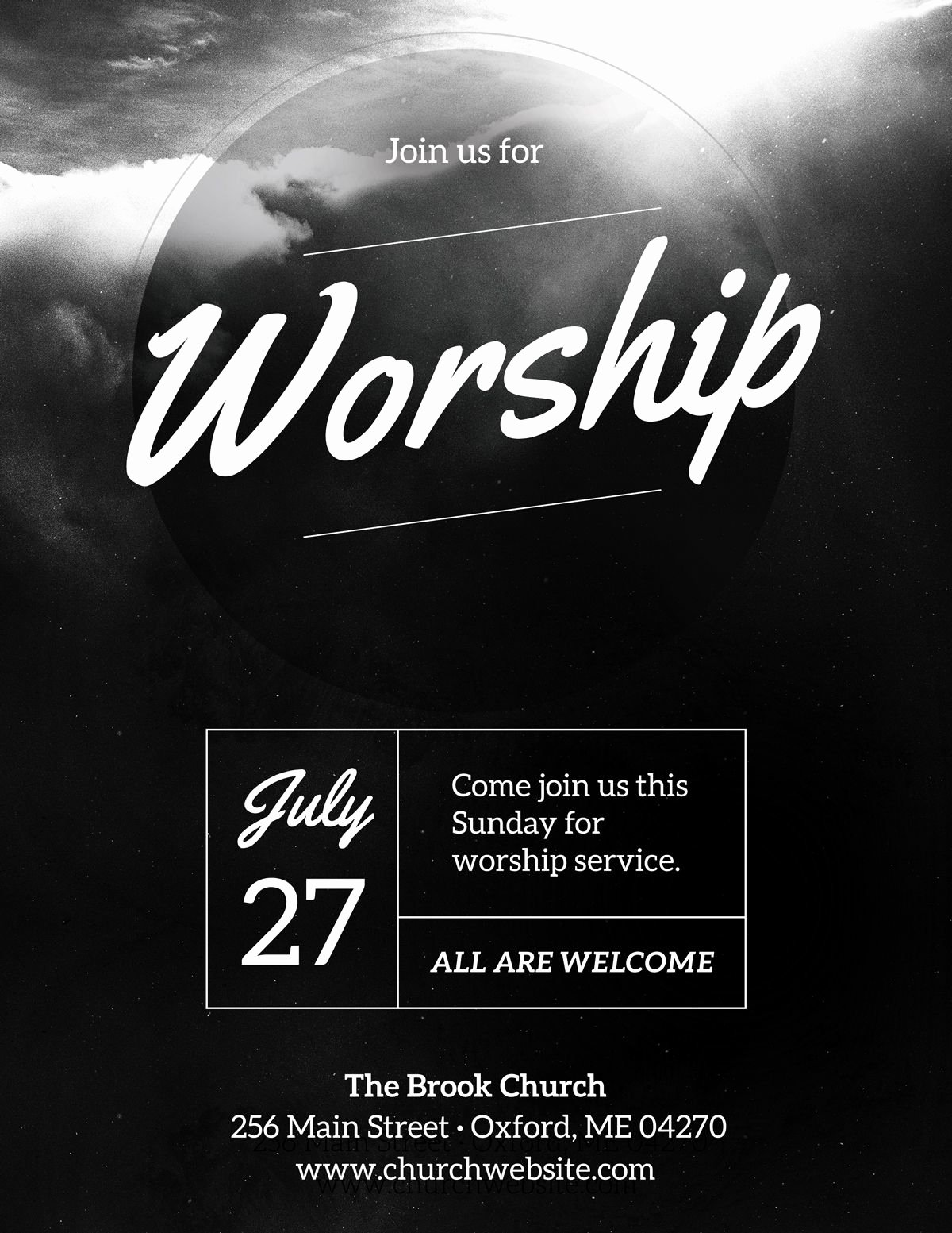 Free Church Flyer Templates Luxury Diy Church event Flyer Template Heavenly Worship for