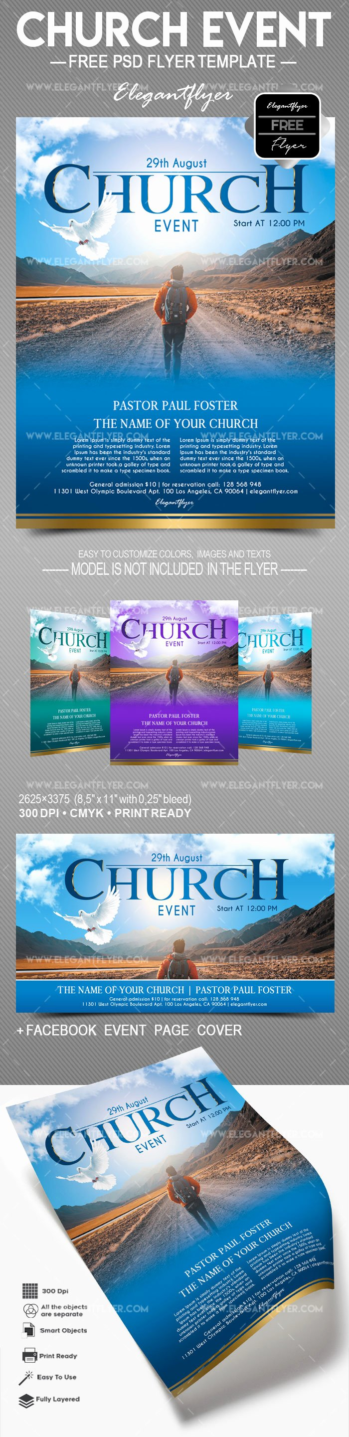 Free Church Flyer Templates Psd Best Of Church event – Free Flyer Psd Template – by Elegantflyer