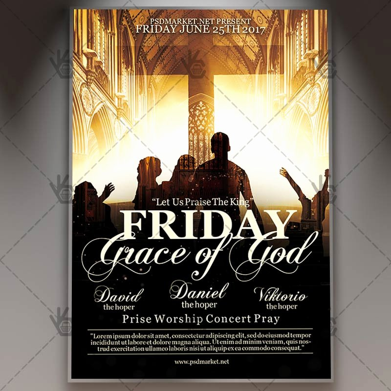 Free Church Flyer Templates Psd Best Of Jesus Friday Prayer Church Premium Flyer Psd Template