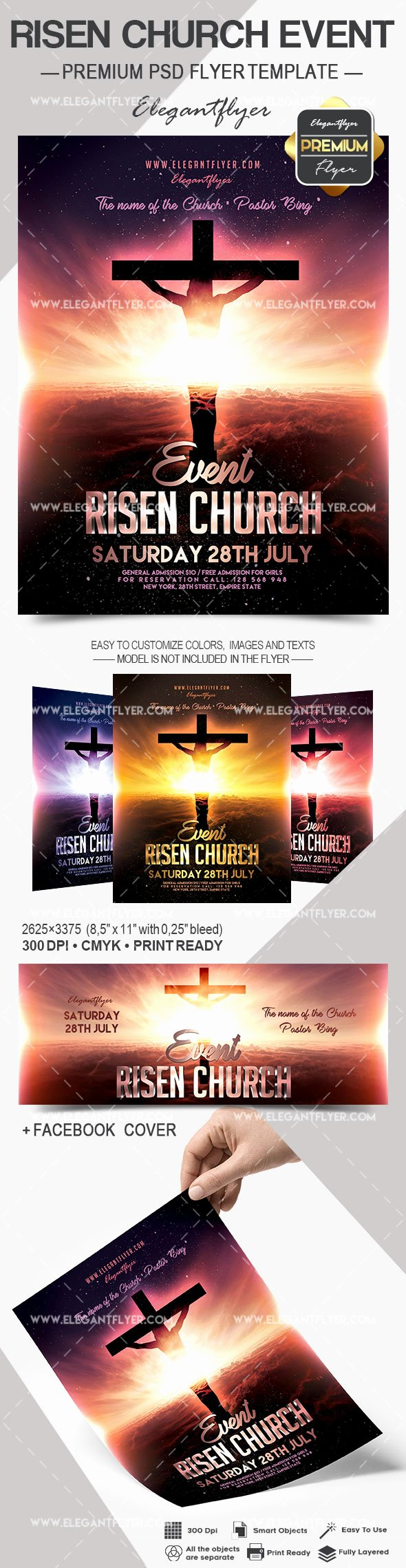 Free Church Flyer Templates Psd Best Of Risen Church event – Flyer Psd Template – by Elegantflyer