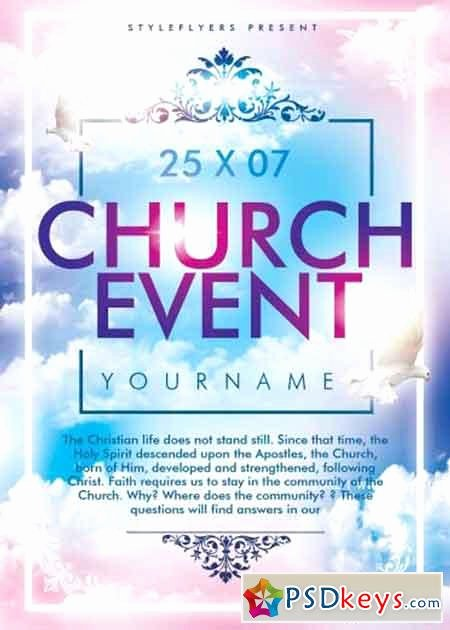 Free Church Flyer Templates Psd Elegant Church event Psd Flyer Template Free Download Shop