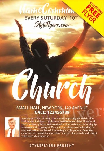 Free Church Flyer Templates Psd Inspirational Church Free Psd Flyer Template Free Psd Flyer