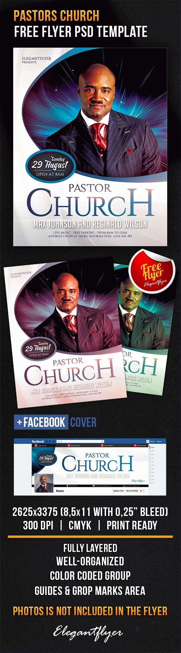 Free Church Flyer Templates Psd Inspirational Pastors Church – Free Flyer Psd Template – by Elegantflyer