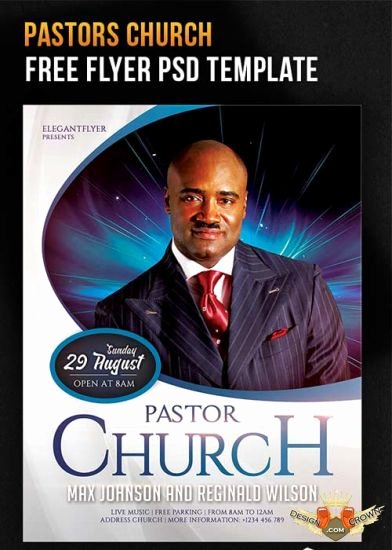 Free Church Flyer Templates Psd Luxury Pastors Church Flyer Psd Template Cover