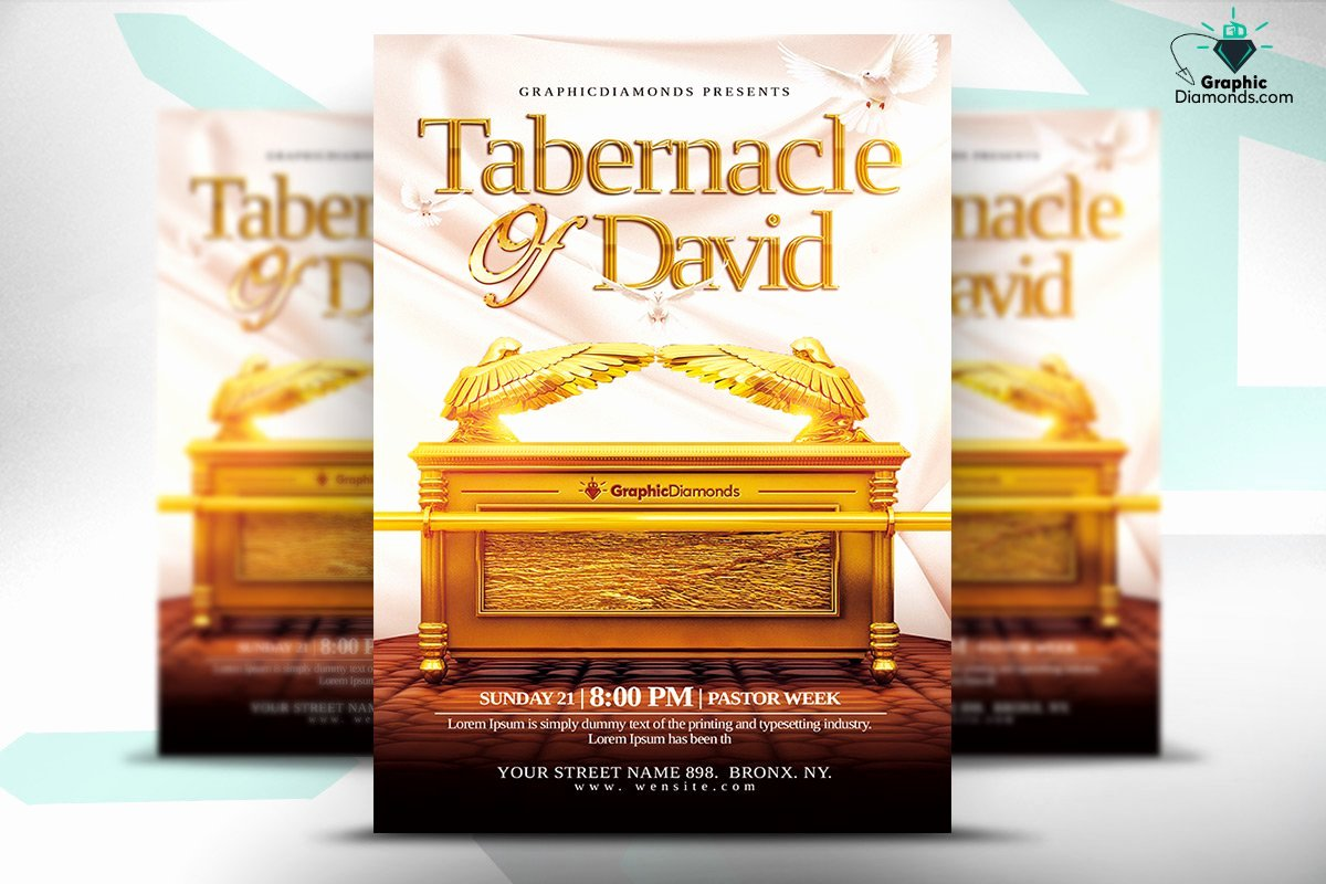 Free Church Flyer Templates Psd Luxury Tabernacle Of David Church Flyer Psd Flyer Templates