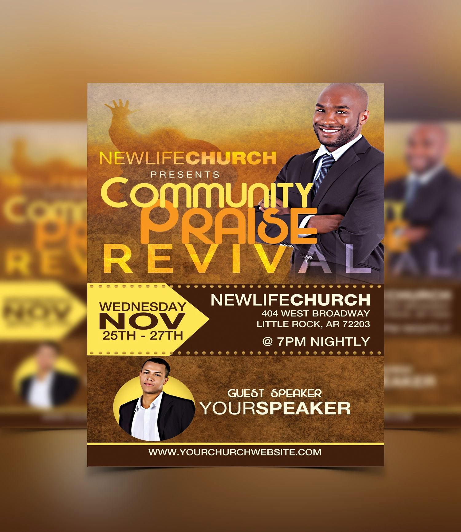 Free Church Flyer Templates Unique Revival Flyer Template Flyerthemes