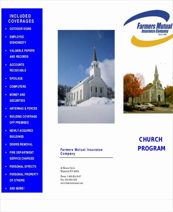 Free Church Program Template Awesome 9 Church Program Samples Free Sample Example format