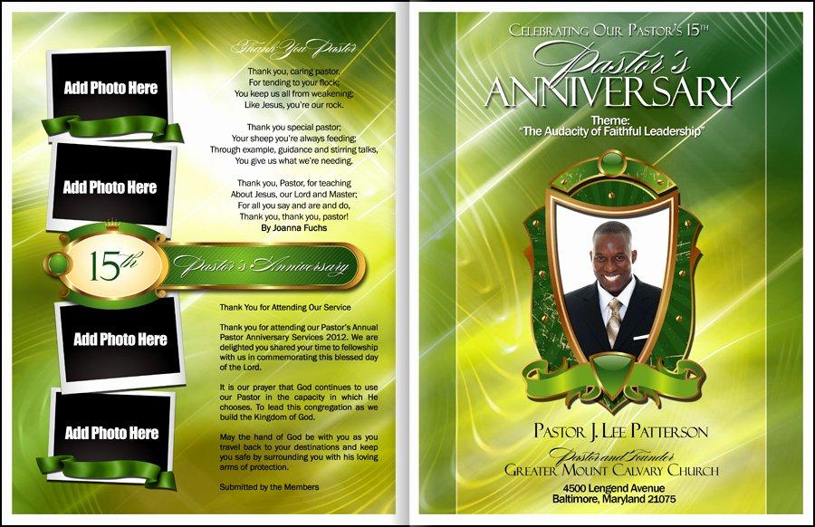 Free Church Program Template Fresh Abundant Pastor Anniversary Program