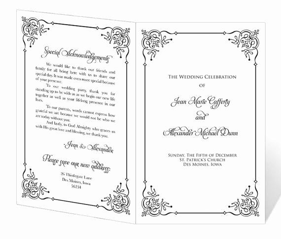 Free Church Program Template Fresh Wedding Program Template Printable Instant Download