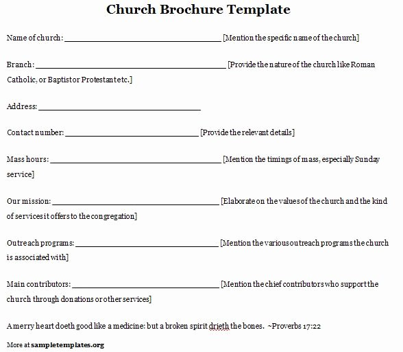 Free Church Program Template Inspirational Church Program Template
