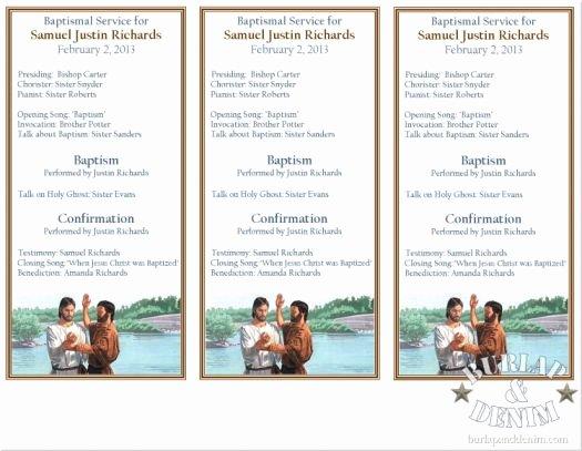 Free Church Program Template Inspirational Printable Baptism Program Layout