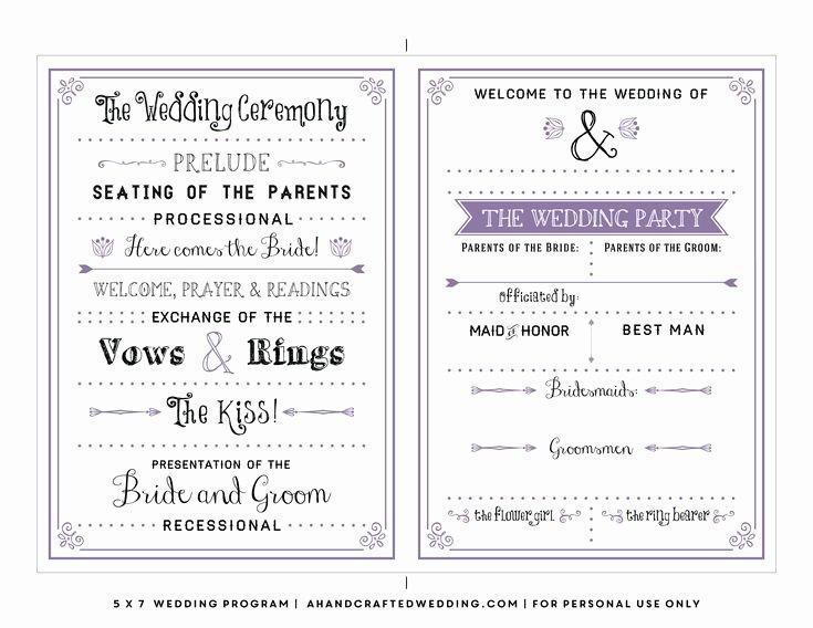 Free Church Program Template Lovely Best 25 Wedding Program Templates Ideas On Pinterest