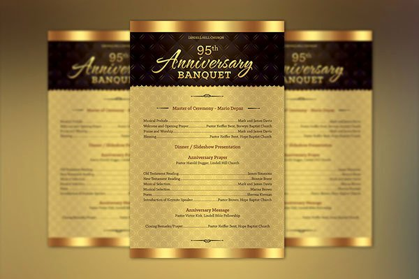 Free Church Program Template Luxury Church Anniversary E Sheet Program Template On Behance