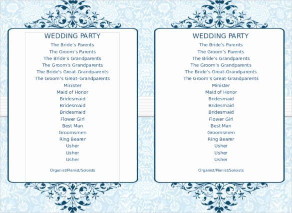 Free Church Program Template New 8 Word Wedding Program Templates Free Download